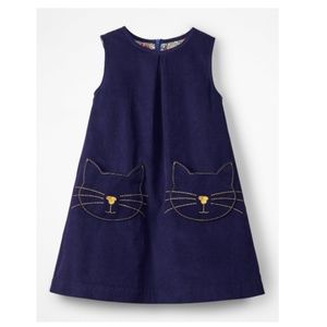 Mini Boden    Pocket Cord Pinafore Dress [Cats]